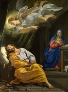 The Dream of Saint Joseph painting reproduction, Philippe De Champaigne
