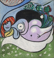 The Dreamer painting reproduction, Pablo Picasso (inspired by)