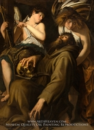 The Ecstasy of Saint Francis painting reproduction, Giovanni Baglione