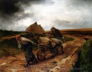 The End of the Day painting reproduction, George Laugee