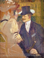 The Englishman (William Tom Warrener) at the Moulin Rouge by Henri De Toulouse-Lautrec