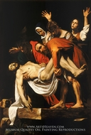 The Entombment painting reproduction, Caravaggio