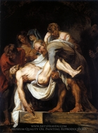 The Entombment painting reproduction, Peter Paul Rubens