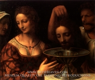 The Executioner Presents John the Baptists Head to Herod painting reproduction, Bernardino Luini