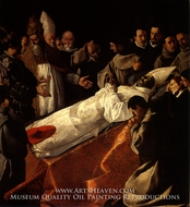 The Exposition of the Body of Saint Bonaventure painting reproduction, Francisco De Zurbaran