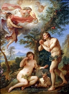 The Expulsion From Paradise painting reproduction, Charles Joseph Natoire