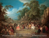The Fair at Bezons by Jean-Baptiste Joseph Pater