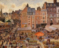 The Fair, Dieppe: Sunny Afternoon by Camille Pissarro