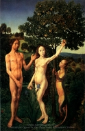 The Fall of Man painting reproduction, Hugo Van Der Goes