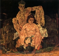 The Family painting reproduction, Egon Schiele