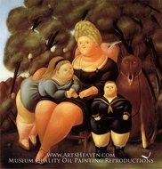 The Family by Fernando Botero