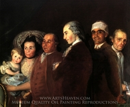 The Family of Infant Louis de Bourbon painting reproduction, Francisco De Goya
