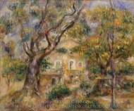 The Farm at Les Collettes, Cagnes painting reproduction, Pierre-Auguste Renoir