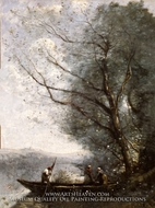 The Ferryman by Jean-Baptiste Camille Corot