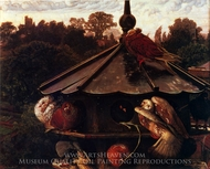 The Festival of St. Swithin or the Dovecote painting reproduction, William Holman Hunt