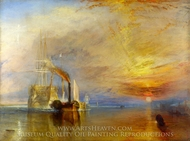 The Fighting Temeraire painting reproduction, Joseph Mallord William Turner