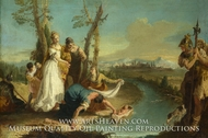 The Finding of Moses painting reproduction, Francesco Zugno