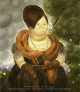 The First Lady painting reproduction, Fernando Botero
