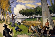 The Fishermen (Fantastic Scene) painting reproduction, Paul Cezanne