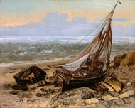 The Fishing Boat painting reproduction, Gustave Courbet