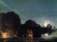 The Flight Into Egypt painting reproduction, Adam Elsheimer