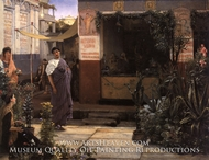 The Flower Market painting reproduction, Sir Lawrence Alma-Tadema