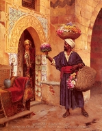 The Flower Merchant painting reproduction, Rudolph Ernst