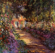 The Flowered Garden painting reproduction, Claude Monet