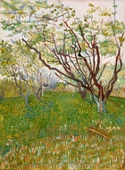 The Flowering Orchard painting reproduction, Vincent Van Gogh