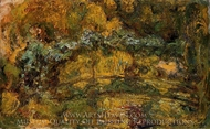 The Footbridge Over the Water-Lily Pond painting reproduction, Claude Monet