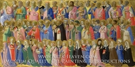 The Forerunners of Christ with Saints and Martyrs painting reproduction, Fra Angelico