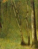 The Forest at Pontaubert painting reproduction, Georges Seurat