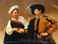 The Fortune Teller painting reproduction, Caravaggio