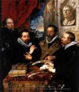 The Four Philosophers (Justus Lipsius and his Pupils) painting reproduction, Peter Paul Rubens