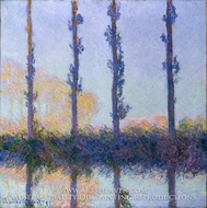 The Four Trees by Claude Monet
