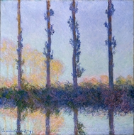 The Four Trees painting reproduction, Claude Monet