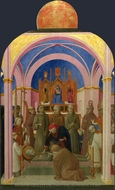 The Funeral of Saint Francis painting reproduction, Sassetta