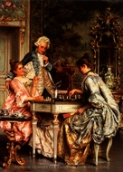 The Game of Chess painting reproduction, Arturo Ricci
