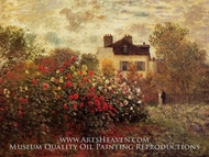 The Garden at Argenteuil (The Dahlias) by Claude Monet