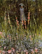 The Garden, Gladioli by Claude Monet