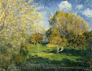 The Garden of Ernest Hoschede-at-Montgeron painting reproduction, Alfred Sisley