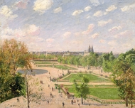 The Garden of the Tuileries on a Spring Morning painting reproduction, Camille Pissarro