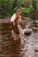 The Girl from Alvdalen painting reproduction, Anders Zorn