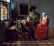 The Glass of Wine by Jan Vermeer