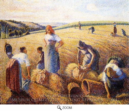 Painting Reproduction of The Gleaners, Camille Pissarro