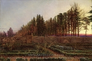 The Gloaming (Manse Garden, Berwickshire) painting reproduction, William Bell Scott