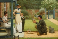 The Goldfish Seller painting reproduction, George Dunlop Leslie