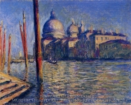 The Grand Canal and Santa Maria della Salute painting reproduction, Claude Monet