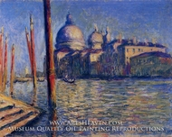The Grand Canal and Santa Maria della Salute by Claude Monet