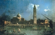 The Grand Canal and the Church of the Salute painting reproduction, Canaletto